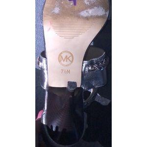Michael Kors Shoes - Michael kors silver heels